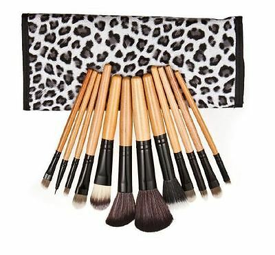 12pcs Pro Make up Brush Set Foundation Blusher Face Powder Kabuki with Bag UK