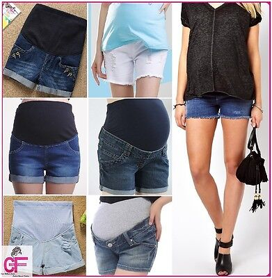 Denim Jeans Summer Maternity Pregnancy Shorts Clothes Ware  Size 6 8 10 12 14