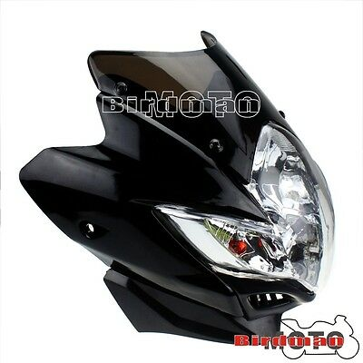 Streetfighter Black Spyder Street Fighter Headlight For Front Light Motorcycle