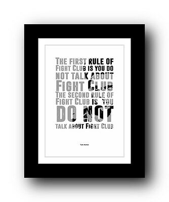 Fight Club ❤ Typography movie quote poster art limited edition print #39