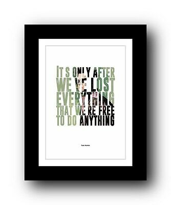Fight Club ❤ Typography movie quote poster art limited edition print #37
