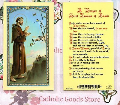 St Francis - A Prayer of St Francis of Assisi - Laminated Holy Card