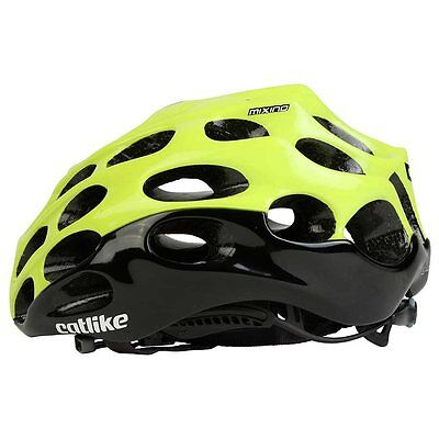 Catlike Mixino Bike Helmet, Black-Yellow Fluo, 2016