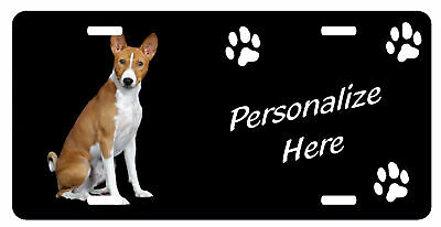 Basenji  Personalized  Automobile License Plate