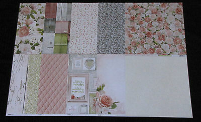"""Kaisercraft 'COTTAGE ROSE' 12x12"""" Paper Flowers/Floral/Girly (You choose) KAISER"""