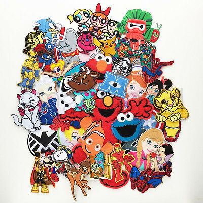 VARIOUS KIDS TV MOVIE CHARACTER PATCHES Iron Sew On Patch Badge T Shirt #C