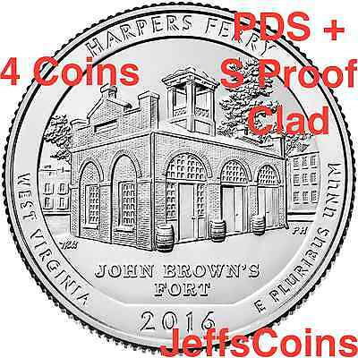 2016 PDSS Harpers Ferry National Park West VA 4 QUARTER SET P D S S  Clad Proof