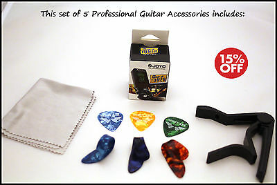 New beginners 5 set acoustic and electric guitar accessories starter pack