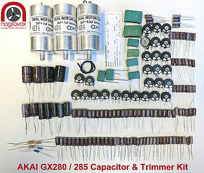 AKAI GX280 / 285 capacitor and trimmer upgrade overhaul kit