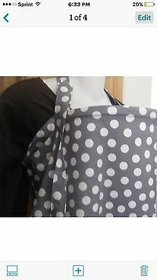 NEW  >NURSING COVER  hider* BREASTFEEDING COVER Up Gray Dots