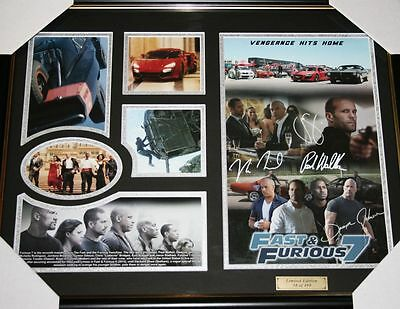 Fast & Furious 7 Limited Edition Frame Signed Photograph with Certificate