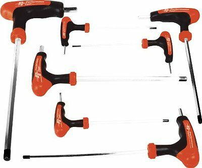 Performance Tool W1711 SAE T-Handle Hex Key Set, 7-Piece, New, Free Shipping