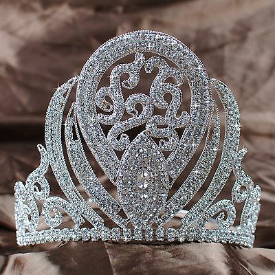"Luxurious Queen 5"" Tiaras Rhinestones Crowns Wedding Bridal Pageant Prom Party"