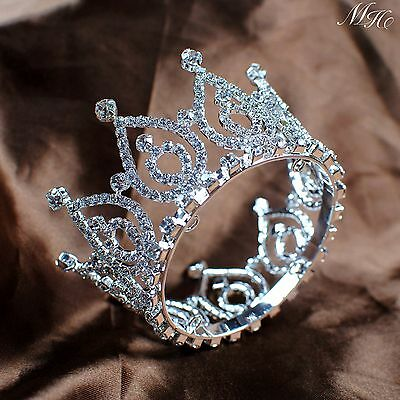 Small Brides Crown Clear Rhinestone Tiara Hair Jewelry Wedding Bridal Party Prom