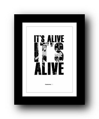 Frankenstein  ❤ Typography movie quote poster art limited edition print #43