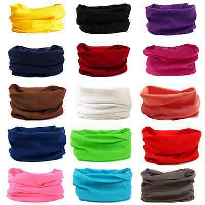 Motorcycle Bandana Balaclava Neck Tube Scarf Snood Face Mask Head Wrap-UK