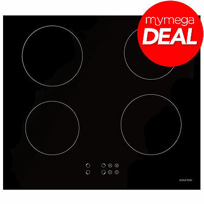 MyAppliances REF29211 60cm Black Glass Touch Control 4 Zone Induction Hob