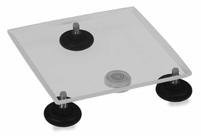 "TrippNT 50530 Clear Acrylic Leveling Table, 8"" Width x 1"" Height x 8"" Depth, New"