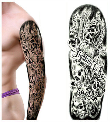 Full Arm Tattoo XXL Fake Tattoo Einmal Tattoo New Design 2016 44,5x15cm QB-3012