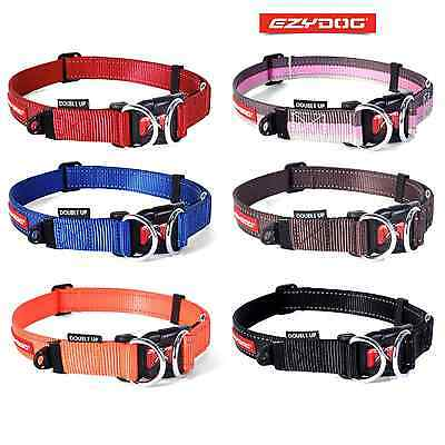 EzyDog Double Up Dog Collar - Strong Double D Ring