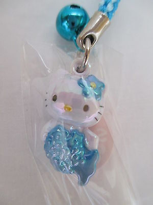 Hello Kitty Strap Charm - Sanrio - Mermaid Blue - Japan KAWAII
