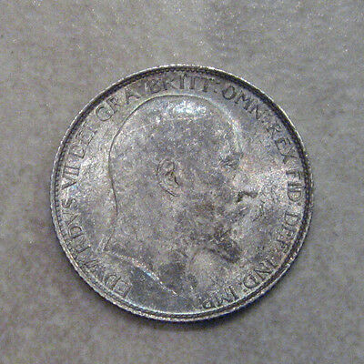 Silver Sixpence 1910 Coin King Edward Vii Uncirculated