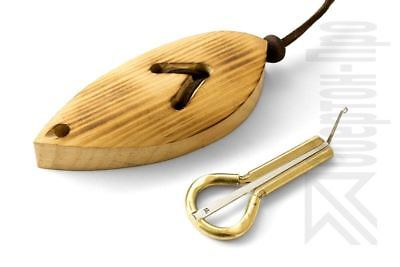 """Altay Jew's Harp (jaw/mouth harp) by P.Potkin with a """"Light Leaf"""" case"""