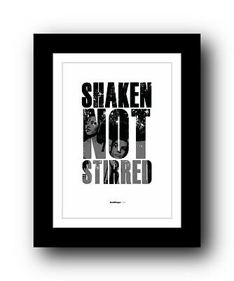 James Bond Goldfinger ❤ Typography movie quote poster limited edition print #45