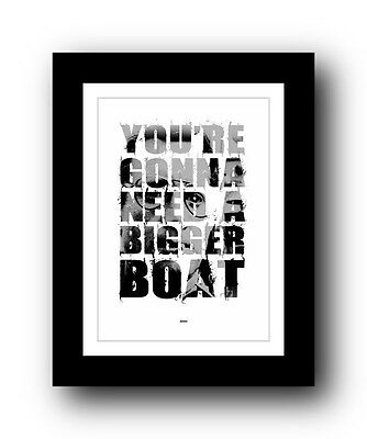 JAWS ❤ Typography movie quote poster art limited edition print #53