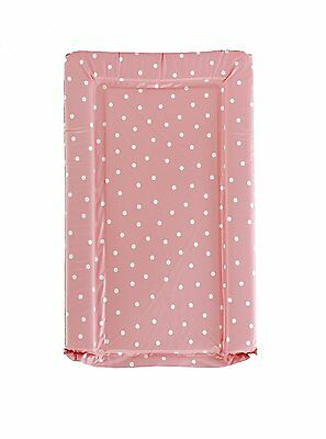 Large Baby Changing Mat Pink with white polka dot boy/girl