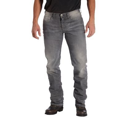 ROKKER Rebel Grey Motorcycle Schoeller-Dynatec Jeans, Gray, NEW! + FREE T-Shirt!