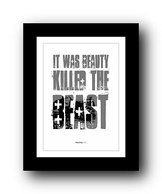 King Kong ❤ Typography movie quote poster art limited edition print #57