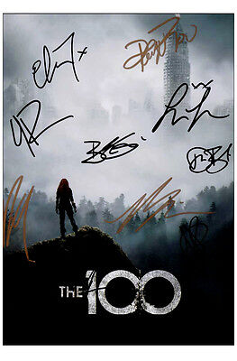 "The 100 - Cast Signed Reprint 4x6"" Poster Photograph #1 Photo TV"