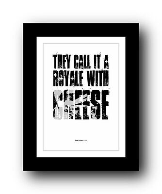 Pulp Fiction ❤ Typography movie quote poster art limited edition print #68