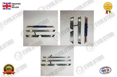 Universal Stainless Steel Chrome Dorr Sill Trim Cover Set With Led Lights
