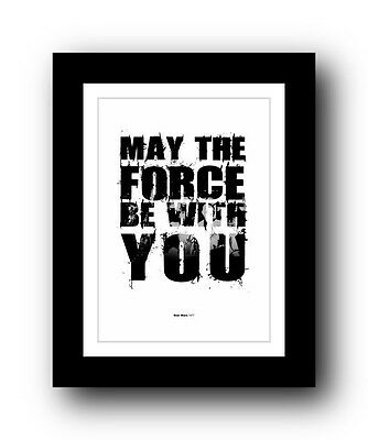 ❤ Star Wars ❤ Typography movie quote poster art limited edition print #73