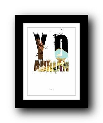 Rocky ❤ Typography movie quote poster art limited edition print #69