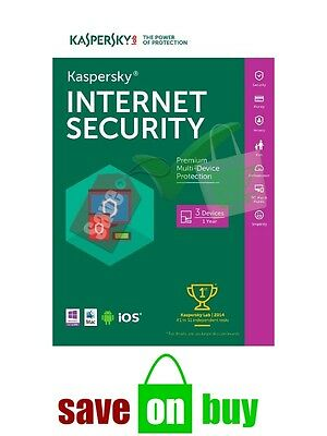 Kaspersky Internet Security 2020 - 3 Users, 1 Year (All Operating Systems)