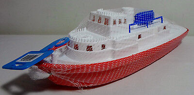 GREEK VTG APERGIS 70's PLASTIC 13'' MARIO BOAT SHIP WATER TOY FLOATS MIP RARE B