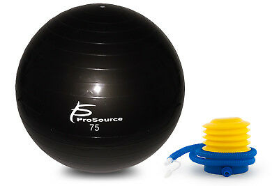 ProsourceFit Exercise Yoga Stability Ball w/ Foot Pump Anti-burst - 75 cm