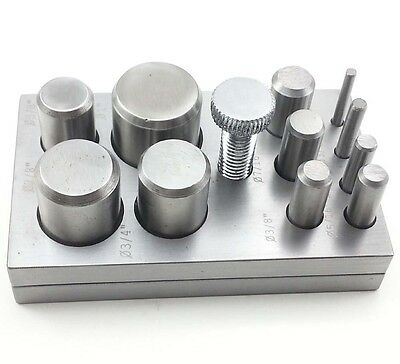 11 PC Jewelry Metal Disc Cutter Set High Quality Steel DC11