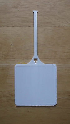 100 - New Blank White 3.75 inch Square Plastic Multi-use Luggage / Golf Bag Tag