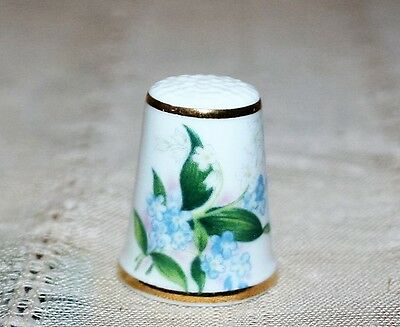 Collectible Royal Grafton Floral Thimble Made in England