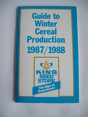 Winter Cereal Production King Seed Store Norfolk Canada Co-Operative Booklet