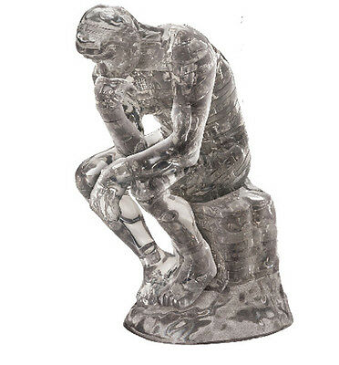 """3D PUZZLE  43 PIECES """"Rodin's The Thinker"""" / CRYSTAL PUZZLES"""