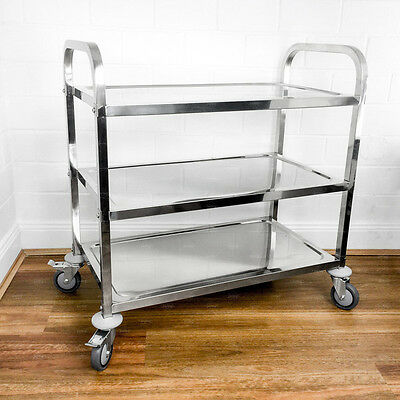 95 x 50 x 95CM Stainless Steel Kitchen Dining Food Utility Catering 3 Tier Cart