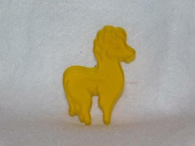 Vintage horse pony  Yellow Plastic  Cookie Cutter