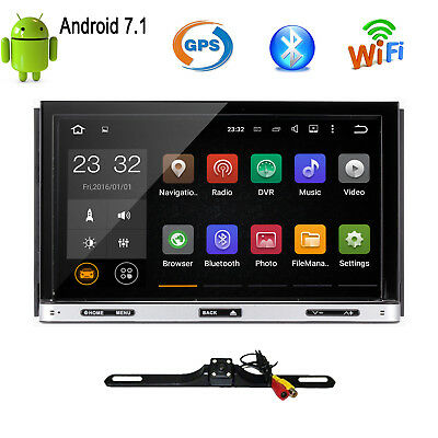 """Android 7.1 7"""" 2Din InDash Car DVD Radio Stereo Player WiFi 4G GPS Tablet+CAMERA"""