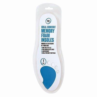 Memory Foam Extra Comfort Cushion Lightweight Foot Trainer Shoes Insoles