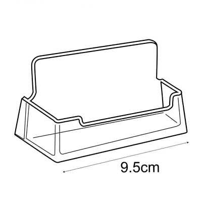 Acrylic Landscape Business Card Holder Free Standing Counter Display Retail/Shop